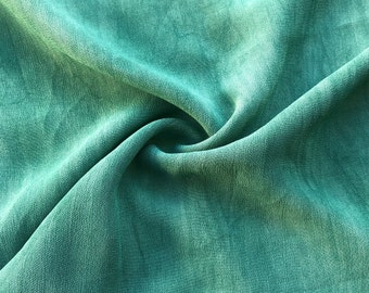 "40"" Marine Green 100% Tencel Lyocell Cupro Georgette 4.5 OZ Light Woven Fabric By the Yard"