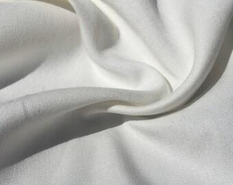 "60"" PFD 100% Lyocell Tencel Gabardine Twill Medium Weight  Off White Woven Fabric By the Yard"