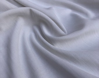 "54"" Solid White Nylon Spandex Lycra Stretch Blend Medium Weight Jersey Knit Fabric By the Yard"