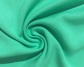"60"" Turquoise Teal Green 100% Lyocell Tencel Gabardine Twill Eco Friendly Apparel Medium Weight Woven Fabric By The Yard"