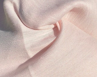 "54"" Linen & Cotton Pink 4 OZ Light Apparel Woven Fabric By the Yard"