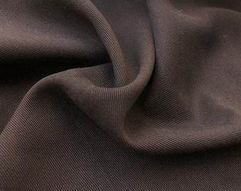 "60"" 100% Tencel Lyocell Heavy Bull Denim Twill Brown Woven Fabric By the Yard"