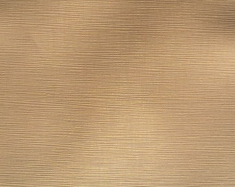 "54"" Cream Gold Vinyl Faux Pleather Upholstery Heavy Fabric By the Half Yard"