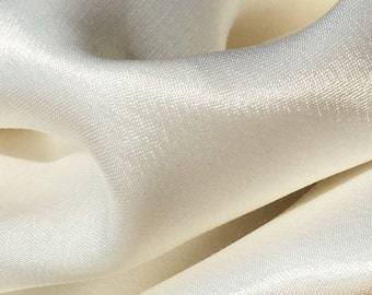 """58"""" PFD 100% Lyocell Tencel Satin Light Weight White Woven Fabric By the Yard"""