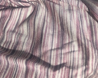 "66"" 100% Bamboo Purple Pink White & Gray Space Dyed Knit Fabric By the Yard"