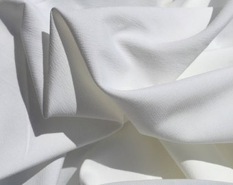 """60"""" 100% Lyocell Tencel Bengaline Faille Eco Friendly Solid White Light Woven Fabric By the Yard"""