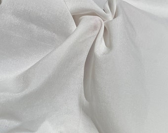 """60"""" 100% Nylon White Faille 5 OZ Woven Fabric By the Yard"""