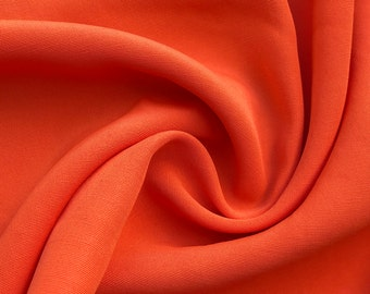 "60"" 100% Rayon Faille Blitz Dark Orange Woven Fabric By the Yard"