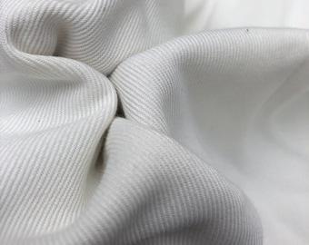 "60"" 100% Tencel Lyocell 11 OZ Bull Denim Twill Woven PFD White USA Made Medium Weight Fabric By the Yard"