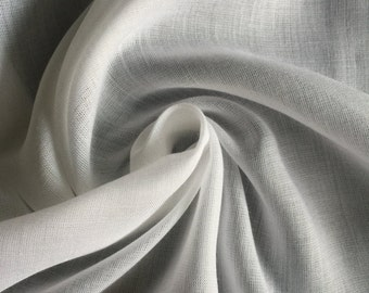 """58"""" White Tencel Voile Mercerized Sheer Light Weight Lining Woven Fabric By the Yard"""
