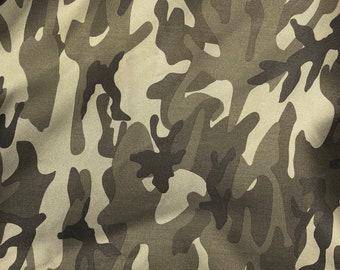 "60"" Cotton Rayon 6 OZ Twill Dark Green Camouflage Camo Print Apparel & Face Mask Woven Fabric By the Yard"