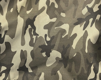 "60"" Cotton Rayon 6 OZ Twill Dark Green Camouflage Camo Print Apparel &  Woven Fabric By the Yard"
