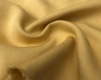 "60"" Banana Yellow 100% Lyocell Tencel Gabardine Twill Eco-Friendly Medium Weight Woven Fabric By The Yard"