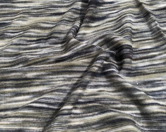 "66"" 100% Bamboo Gray Green & Black Space Dyed Knit Fabric By the Yard"