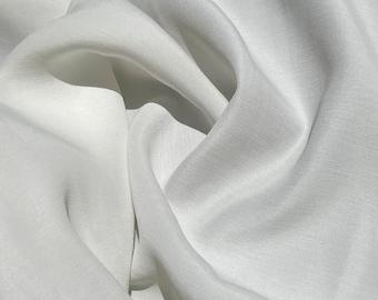 "58"" Peachskin Acetate White 6 OZ Faille Woven Fabric By the Yard"