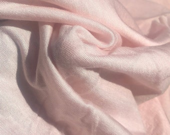 "68"" Modal Jersey Spandex  Stretch Blend Solid Light Pink Knit Fabric By the Yard"