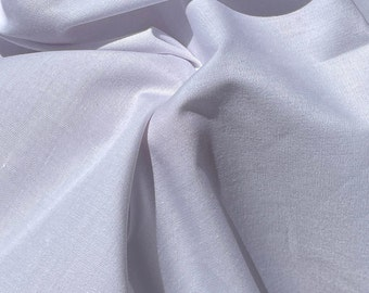 """58"""" Combed Cotton Blend 4 OZ Woven Fabric for Apparel By the Yard"""