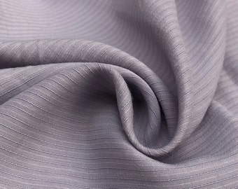 """58"""" Tencel Lyocell Cotton Striped Medium Weight Purple & White Woven Fabric By the Yard"""