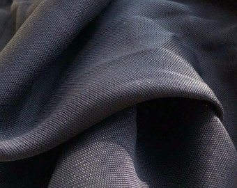 """56"""" 100% Lyocell Solid Black Medium Weight Georgette Woven Fabric By the Yard"""
