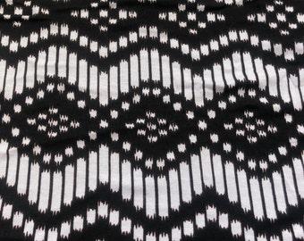 "60"" Modal Lycra Spandex Stretch Black White Jersey Knit Fabric By the Yard"