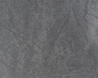 "55"" Vinyl Faux Pleather Leather Upholstery Stylish & Modern Heavy Weight Dark Gray Fabric By the Half Yard"
