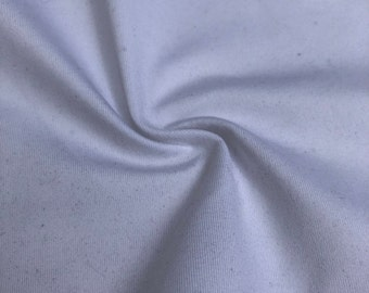 "62"" White Polyester Spandex Jersey Knit Fabric By the Yard"