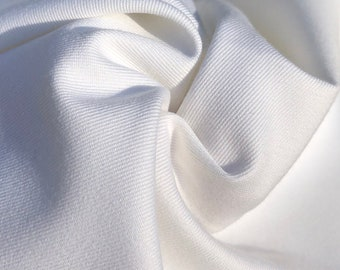 "60"" 100% Pima Cotton Twill 7 OZ Tight Weave White Apparel & Face Mask Woven Fabric By the Yard"
