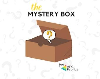 Fabric Mystery Box by APC Fabrics! Six (1 yard piece) of assorted woven & knits fabrics