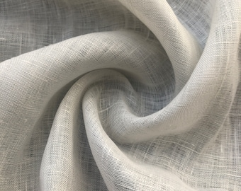 """56"""" 100% Linen Off White 3 OZ Handkerchief Woven Fabric By the Yard"""