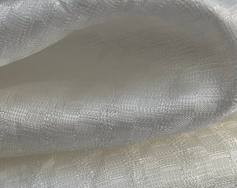 """58"""" PFD Greige Goods 100% Rayon Bemberg Jacquard White Woven Fabric By the Yard"""
