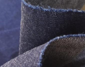 "62"" Japanese 100% Lyocell Tencel Denim Dark Indigo Blue Heavy Woven Fabric By the Yard"