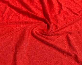 """58"""" 100% Modal Jersey Knit Red Piece Dyed Apparel Fabric By the Yard"""