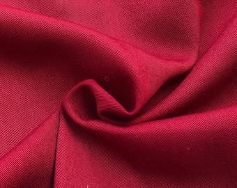 "60"" 100% Tencel Lyocell Gabardine Twill Maroon Burgundy Woven Fabric By the Yard"