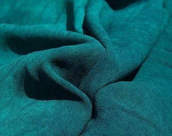 "40"" Marine Green 100% Tencel Lyocell Cupro Georgette 4.5 OZ Light Woven Fabric By the Yard"