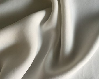 """58"""" 100% Tencel Lyocell Bemberg Enzyme Washed Silk-Hand White, Brown, & Black Light Weight Woven Fabric By the Yard"""
