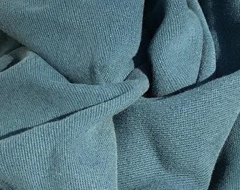 "58"" 100% Tencel Lyocell Gabardine Twill Enzymed Wash Medium Weight Marine Teal Blue Woven Fabric By the Yard"