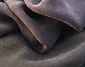 """58"""" 100% Rayon Bemberg Enzyme Washed Silk-Hand Purple & Black 7 OZ Light Woven Fabric By the Yard"""