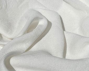 "60"" Tencel Lyocell & Rayon Dobby Jacquard 7 OZ PFD Natural White Woven Fabric By the Yard"