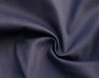 "60"" 100% Cotton Japanese Denim Dark Indigo 10 OZ Woven Fabric By the Yard"