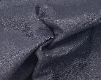 "60"" 100% Cotton Italian Denim Dark Indigo 10 OZ Woven Fabric By the Yard"