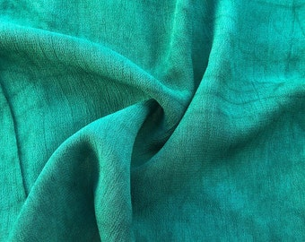 """42"""" Sage Green 100% Tencel Lyocell Cupro Georgette 4.5 OZ Light Woven Fabric By the Yard"""