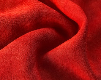 """44"""" Red 100% Tencel Lyocell Cupro Georgette 4.5 OZ Light Woven Fabric By the Yard"""