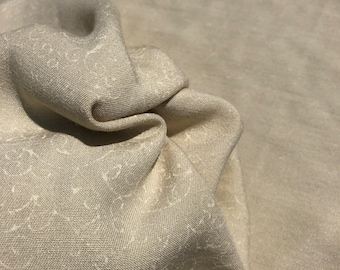 """58"""" Merino Tencel Lyocell Wool Double Faced Jacquard Ivory Beige Apparel Woven Fabric By the Yard"""