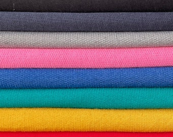"""58"""" Cotton Baby French Terry Spandex with Stretch 9 OZ Knit Fabric By the Yard"""