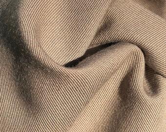 "60"" Rayon Blend 6.5 OZ Khaki Apparel Woven Fabric By the Yard"