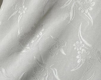 """60"""" 100% Tencel Lyocell Satin Floral Jacquard 6 OZ Woven Fabric By the Yard"""