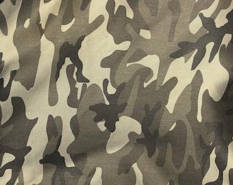 "60"" Cotton Rayon 6 OZ Twill Dark Green Camouflage Camo Print Apparel &  Woven Fabric By the Yard"