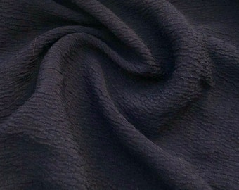 """60"""" 100% Lyocell Black Ghost Wrinkly Woven Fabric By the Yard"""