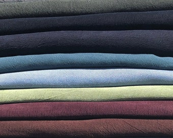 "60"" 100% Tencel Lyocell Gabardine Twill Enzyme Washed Medium Weight Woven Fabric By the Yard"