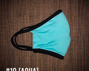 Aqua Blue USA Made  & Face Wear Jersey Knit Spandex